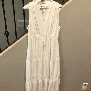 White Maternity Maxi Dress